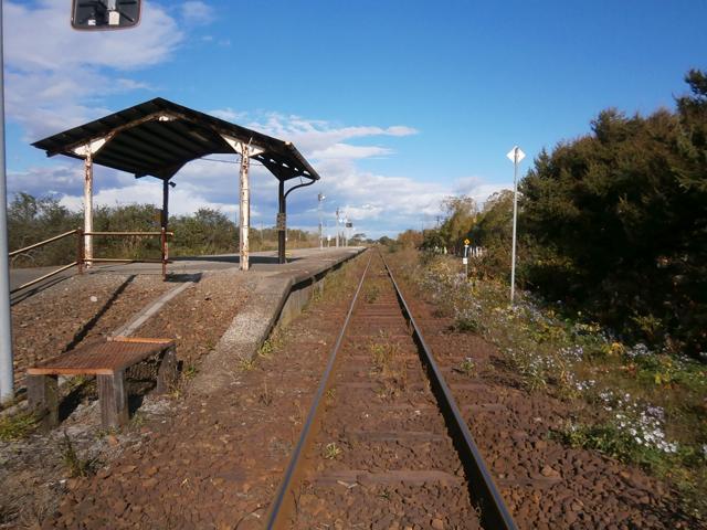 日高本線勇払駅。