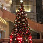 インターコンチネンタルホテルのロビーに飾ってあったクリスマスツリー